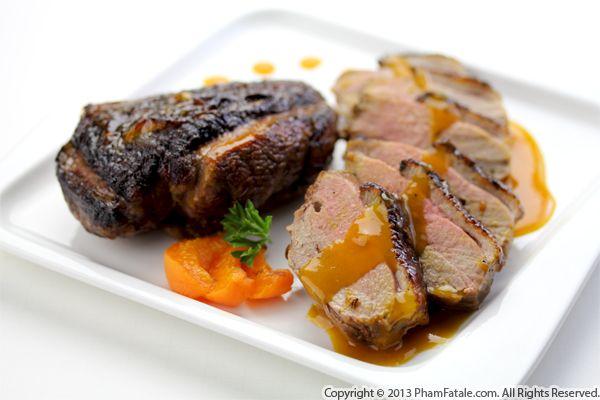 Apricot Glazed Pan Roasted Duck Breast Recipe Pham Fatale